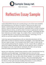 reflective essay format com reflective essay format 14 reflection paper examples team business studentshare writing samples example