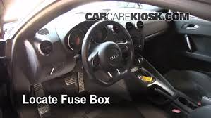 interior fuse box location 2008 2015 audi tt quattro 2008 audi locate interior fuse box and remove cover