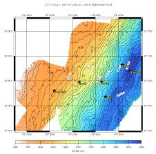 What Do The Colors Denote In A Bathymetric Chart Bathymetry Of The Tonga Trench And Forearc A Map Series