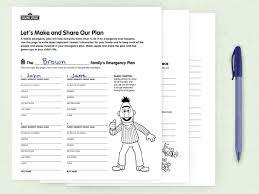 Family Emergency Plan Sesame Street In Communities Sesame Street