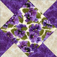 Debbie Beaves Lovely Purple Cream Lavender Floral Pansy Fabric ... & Picture 1 of 1 Adamdwight.com