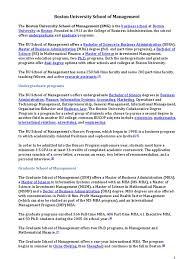 Cover Letter Boston University Boston University School Of Management Docshare Tips