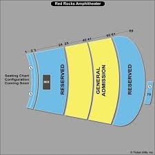 Red Rocks Amphitheatre Seating Chart All Reserved Luke Combs At Red Rocks Amphitheatre Tickets On May 12 2019