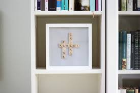 box frame scrabble letters