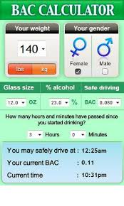 Amazon Com Blood Alcohol Calculator Bac Appstore For Android