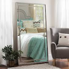 wall mirrors large silver luxe leaner