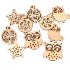 ball owl star cutouts natural wooden craft for wood decoration ornament shutters with