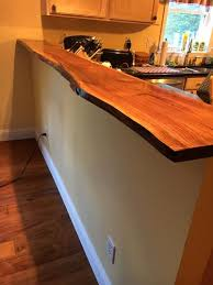 live edge black walnut counter top mne new jersey