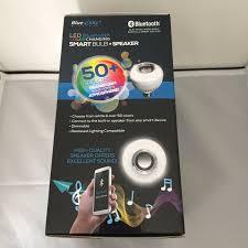 Led Bluetooth Light Bulb Speaker Blue Sky Blue Sky Led Bluetooth Color Changing Smart Bulb Speaker 50 Colors