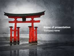 Ancient Japan Powerpoint Template Backgrounds 05350
