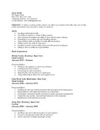 Cashier Resume Resume Cv Cover Letter