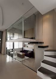 Modern Day Bedrooms Modern Day Little Apartment With Open Strategy And Loft Bedroom