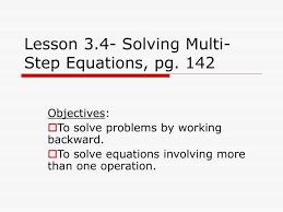 ppt lesson 3 4 solving multi step