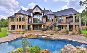 newly built stone home in edmond