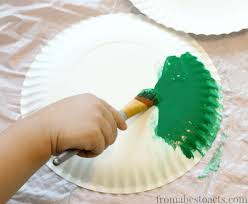 preschool painting spiral paper plate craft