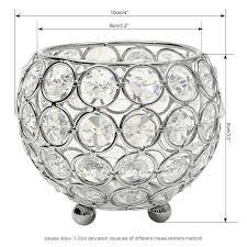 Vincigant Kerzenhalter Schüssel Kristall Kerzenständer Silber Für Wohnzimmer Dekoration Couchtisch Dekor Tabelle Kernstückdurchmesser 10cm