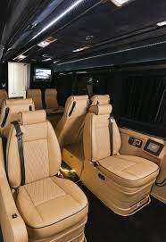 The comfort controls includes refresh, vitality, warmth, joy, and comfort interior modes, which adjusts things such as the car's climate control and massaging seats. Klassen Excellence Sprinter Mercedes Benz Msd 1201 Family Company Business Luxury Van With 10 Seats And Lagage Luxury Van Luxury Car Interior Best Family Cars