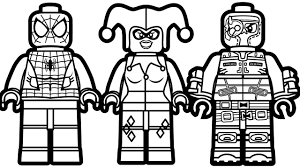 Lego Spiderman Coloring Pages Beautiful Lego Spiderman Coloring