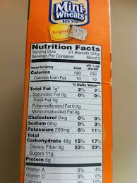 for exle pictured left is the nutrition facts for frosted mini wheats want to know more on the image