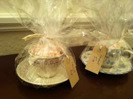 Gift Basket Wrapping Ideas Instead Of Wrapping A Basket Wrap Vintage Tea Cups Filled With