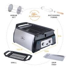 Open grills and contact grills. Kitchen Academy Indoor Infrared Grill Portable Non Stick Electric Tab Alphamarts