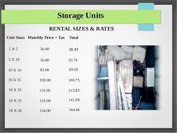Storage Units RENTAL SIZES U0026 RATES   SlideShare