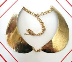 br peter pan collar necklace hammered br gold chain tel the maude collar