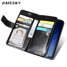 haissky book leather case for samsung galaxy s9 s8 plus note 8 s7 edge s7 zipper