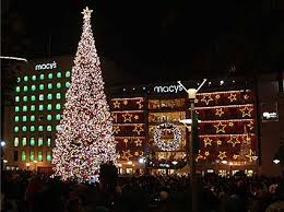 2017  2018 Holiday Events Union Square  Tree Lighting Ice Christmas Tree In San Francisco