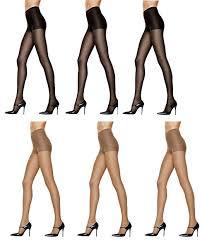 Hanes Womens Silk Reflections Control Top Pantyhose 3 Par
