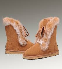 ... UGG Fox Fur Short Boots 3586 Chestnut Hot Sale ...