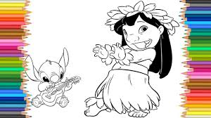 Lilo Stitch Disney Coloring Page L Coloring Markers Videos For