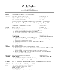 Sample Resume For Internship In Civil Engineering