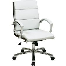 faux leather executive office chair in white