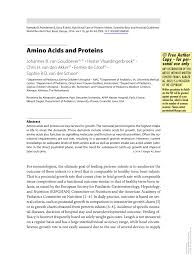 Pdf Amino Acids And Proteins