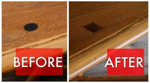 mid century table veneer repair