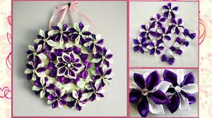 diy wall hanging craft idea using satin ribbon vinni s craft ideas