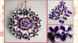 diy wall hanging craft idea using satin ribbon