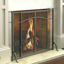 fireplace doors ideas screens modern and glass contemporary brushed nickel