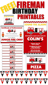 Free Templates For Invitations Birthday Firetruck Themed Birthday Party with FREE Printables How to Nest 83