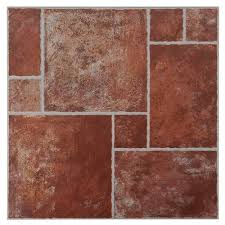 Track Terracotta Ceramic Tile Sample 13 x 13 100170141 Floor