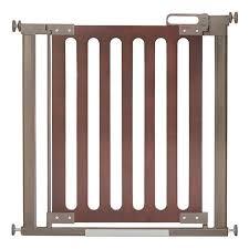 fred dark wood pressure fit child safety gate