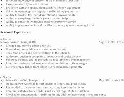 Bartender Cover Letter No Experience Resume Fresh Resume For