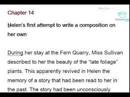 Summary on novel the story of my life
