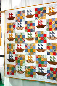 Kids Quilt Patterns At Kariepatchcom For Some Wonderful Quilt ... & ... Art Quilts By Melinda Bula Quilts For Beginners Kits Bright And Fun  Sailboats Quilt At The ... Adamdwight.com