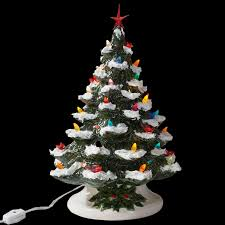 Tabletop Trees From Family Christmas Online™Ceramic Tabletop Christmas Tree With Lights