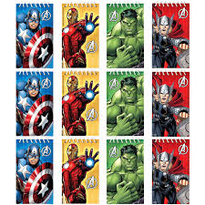 Avengers Party Decorations Avengers Assemble Party Supplies 12 Mini Paper Favor Notebooks