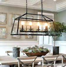 vintage wrought iron chandelier lamp lights living dining room with