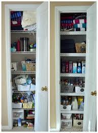 before after linen closet