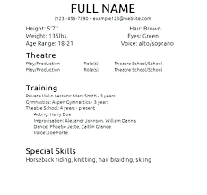Beginners Acting Resume Fascinating Resume For Beginners Acting Resume Beginner Home Improvement Tips